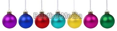 weihnachtskugeln kugeln farben banner deko dekoration