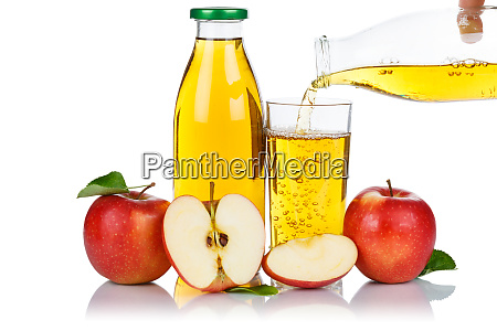 apple juice pouring pour apples fruit