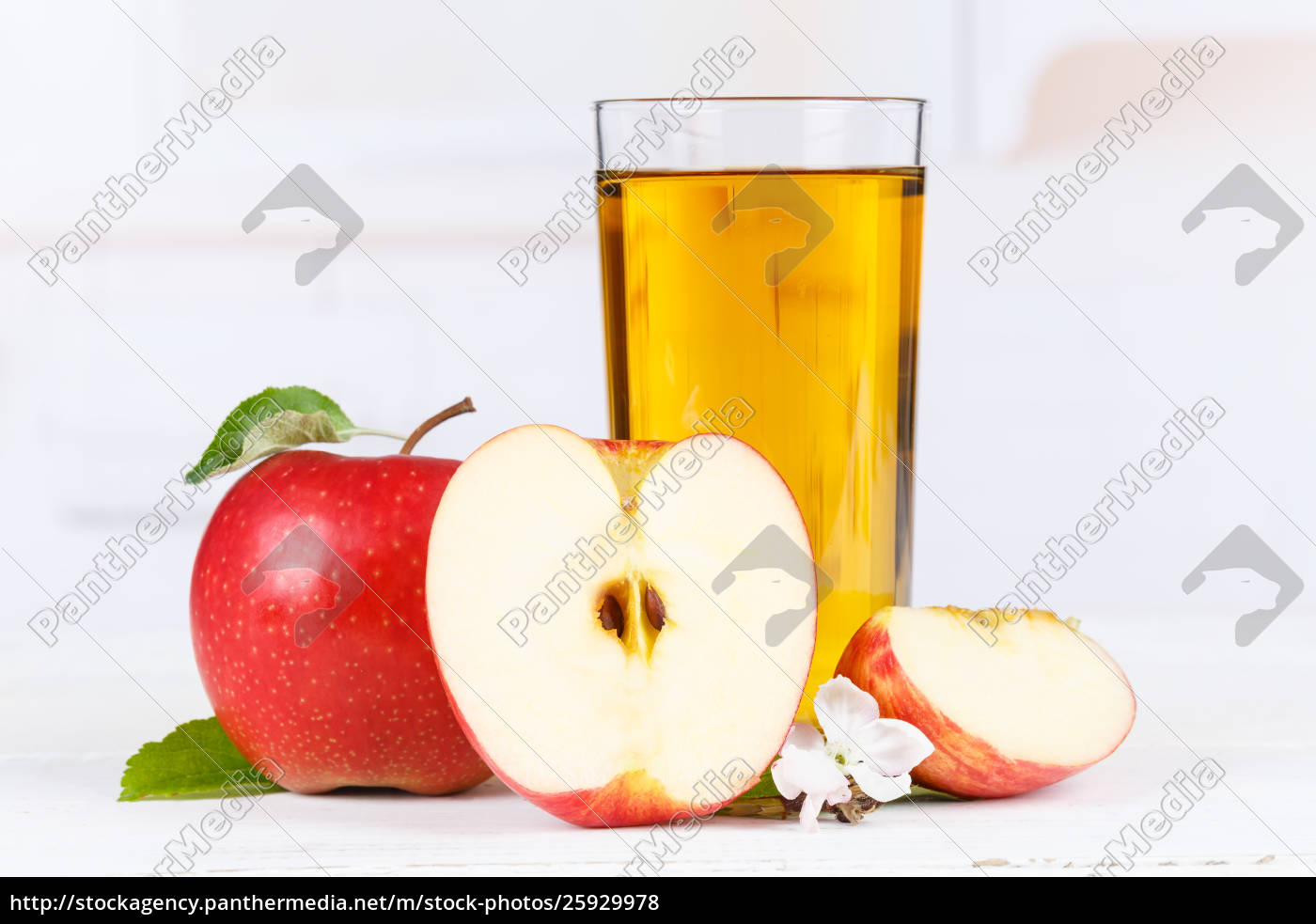 apfelsaft, frust-Äpfel, trinken, glas - 25929978