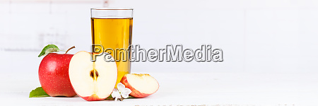 apple juice fruit apples drink banner