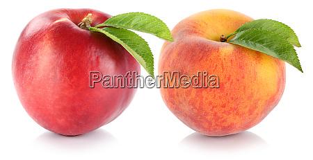 nectarine and peach fresh fruit fruits
