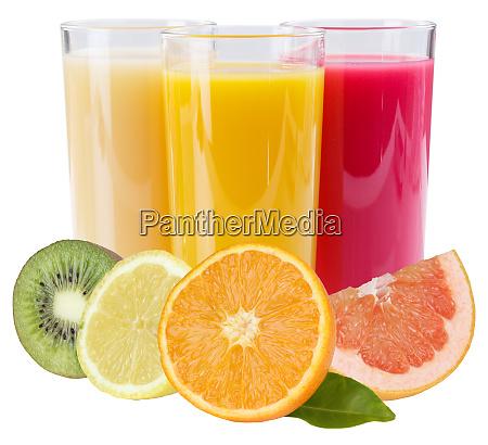 saft smoothie in glas quadratische fruechte