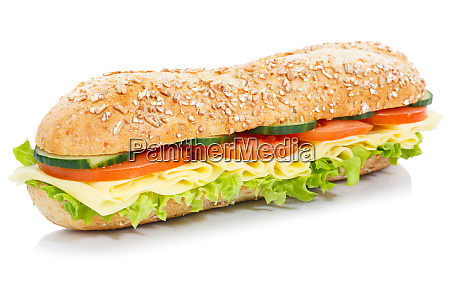 baguette sub sandwich vollkornkoerner mit kaese