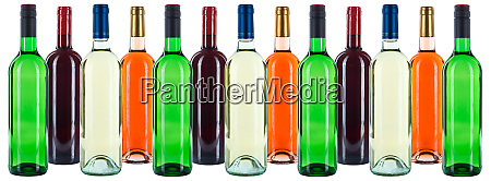 group of wine bottles colorful wines