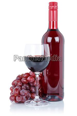 weinflasche glas alkohol getraenk rote trauben