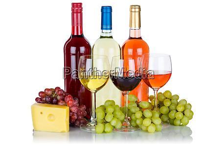 rosenwein rotweinweine trauben alkohol isoliert auf