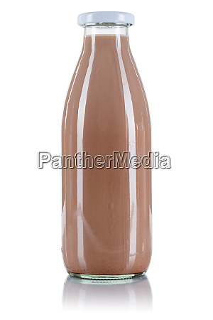 chocolate drink milk bottle isolated on
