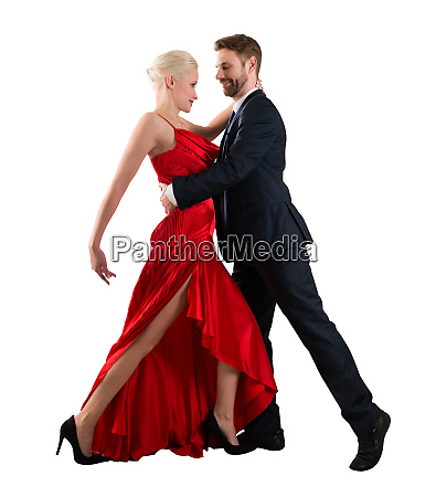 couple dancing on white background