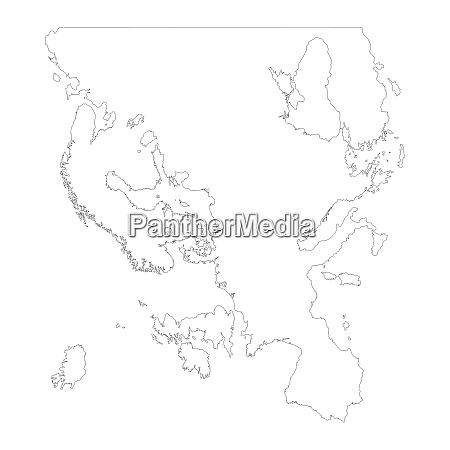 karte von europa umrissgestaltung isolieren auf