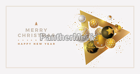vector christmas and new year greeting