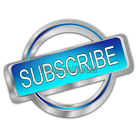 silver glossy blue subscribe button