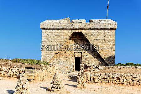 naturschutzgebiet tower castell de la punta