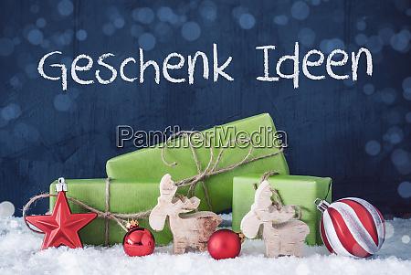 green christmas presents snow geschenk ideen