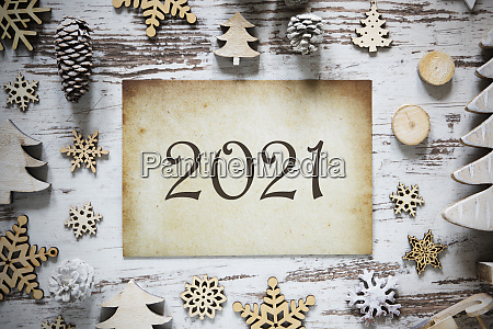 rustikale weihnachtsdekoration braun vintage papier text
