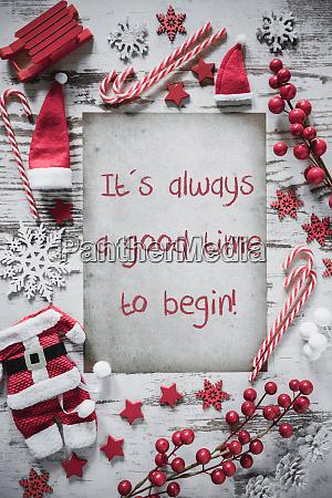 weihnachtsplatte vertikales papier quote immer gute