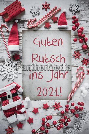 weihnachten flache lay guten rutsch 2021