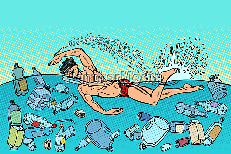 ocean pollution by plastic trash ecology