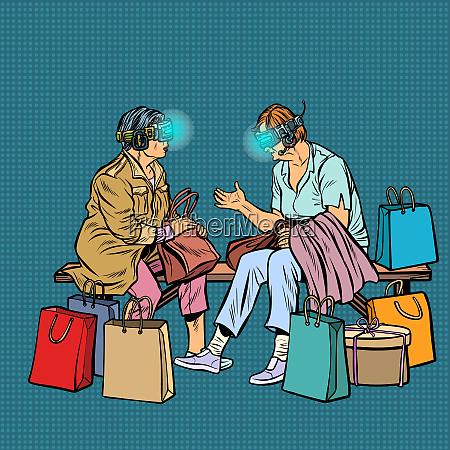 aeltere frauen online einkaufen virtuelle realitaet