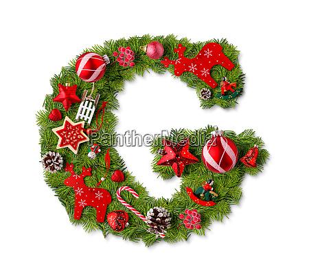 weihnachts alphabet brief g