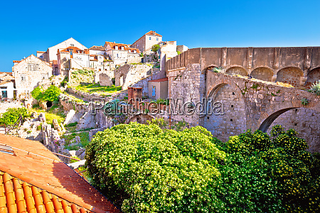 histroic dubrovnik old town view from