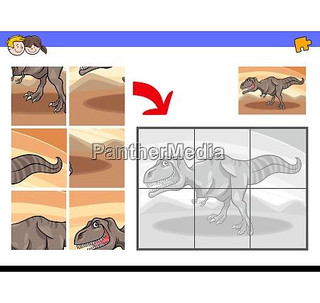 jigsaw puzzles with tyrannosaurus dinosaur character