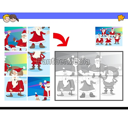 jigsaw puzzles with santa characters