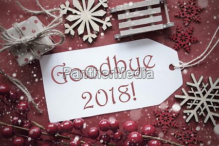 nostalgische weihnachtsdekoration label mit text goodbye
