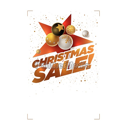 merry christmas sale poster design