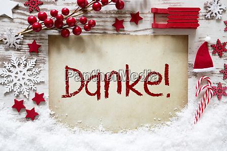 bright christmas decoration snow danke means