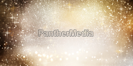 sparkling bokeh background with christmas stars