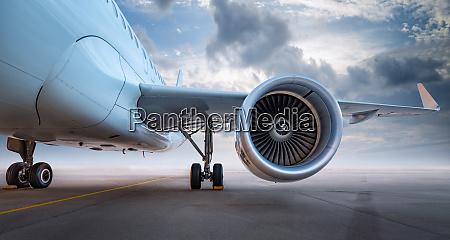 modernes flugzeug eines flugplatzes eines flughafens