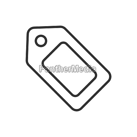 tag line icon on a white