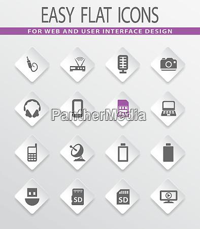 hightech icons gesetzt