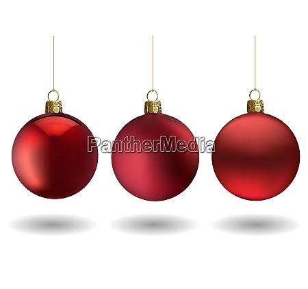 red christmas ball set