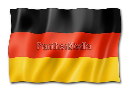 deutsche fahne auf weiss isoliert