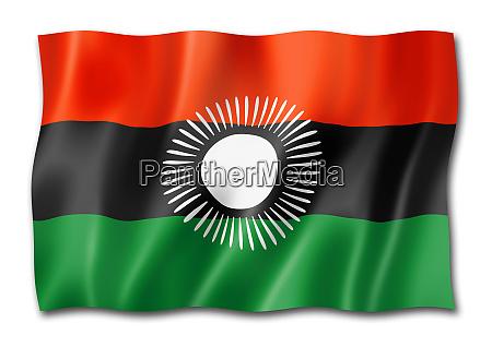 malawi flagge auf weiss isoliert