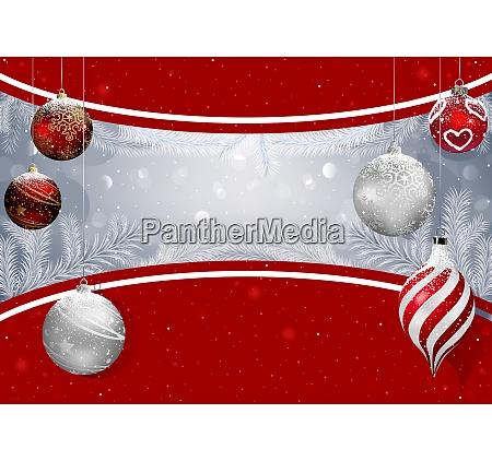 weihnachts-hintergrund, mit, bausteinen, und, schneezweigen - 25956298