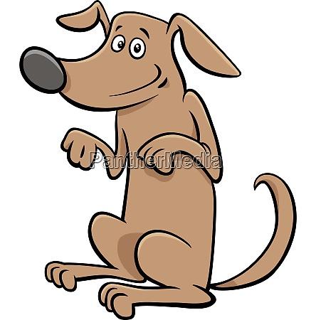 standing dog pet cartoon character