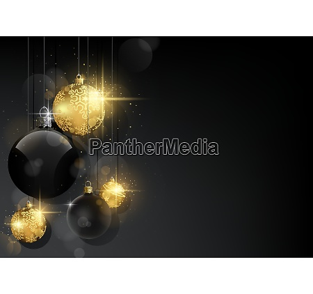 christmas background with black and golden
