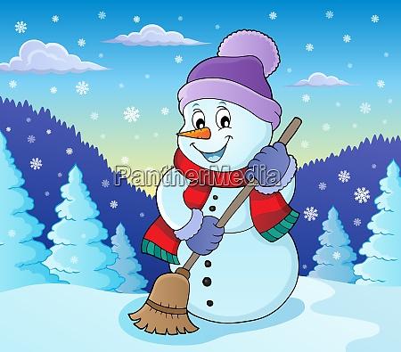 winter snowman subject image 7