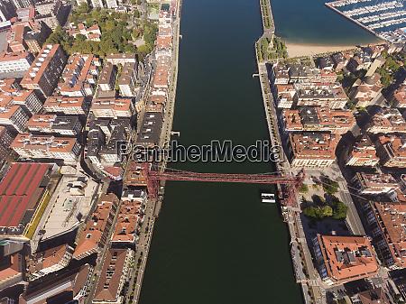 haengebruecke portugalete bizkaia baskenland spanien
