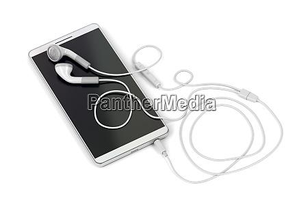 smartphone und kabelgebundene ohrhoerer