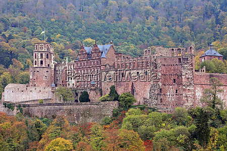 heidelberg castle in autumn 2018