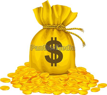 goldmuenz sack voll spargel fond blustration