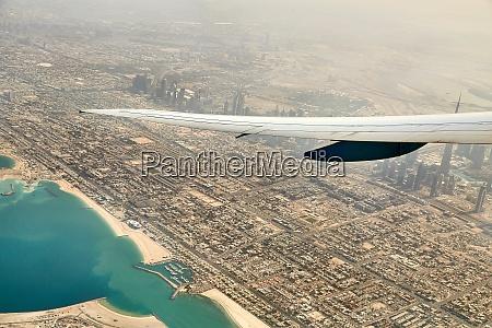 dubai view from air