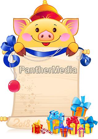 gelbes erdschwein ist ein symbol fuer