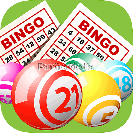 bingo karte gluecksspiel freizeitaktivitaet glueck baelle