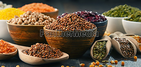 composition with variety of vegetarian food