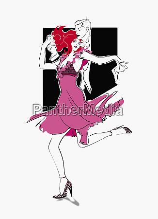 romantisches paar tanzen
