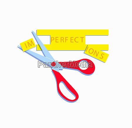 schere veraendert unvollkommenheiten zu perfektionieren